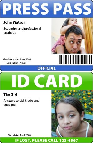 Make Your Own ID Card, Press Pass, Name Tag, Or Any Other Kind  Membership Id Card Template