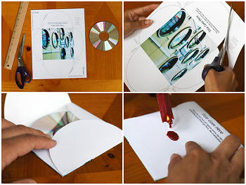 Make a personalized CD or DVD cover. Simple printing and folding instructions.