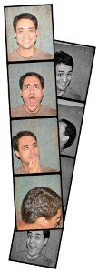 Create vintage photo booth strips. Four poses! Say cheese!