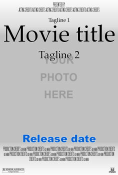 Introduction on print own poster online grocery coupons for Movie poster credits template free