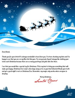 photograph regarding Letter From Santa Template Printable called Letter towards Santa: Produce a custom-made letter in opposition to Santa
