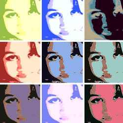 Become a pop icon! Create a cool pop art poster in a lo-fi, multi-panel style.