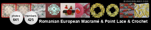 Romanian European Macramé & Point Lace & Crochet. Get yours at bighugelabs.com
