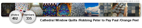 Cathedral Window Quilts /Robbing Peter to Pay Paul /Orange Peel. Get yours at bighugelabs.com/flickr
