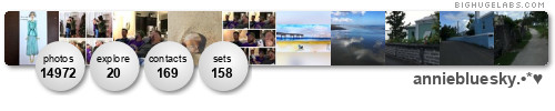 anniebluesky. Get yours at bighugelabs.com/flickr